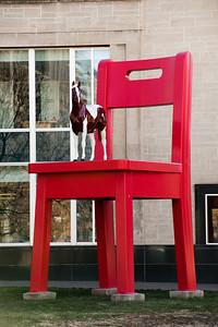 Art outside the Central Library, Denver, Colorado.