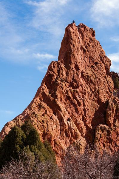 Rock climbers in the Garden of the Gods, Colorado Springs, Colorado.
