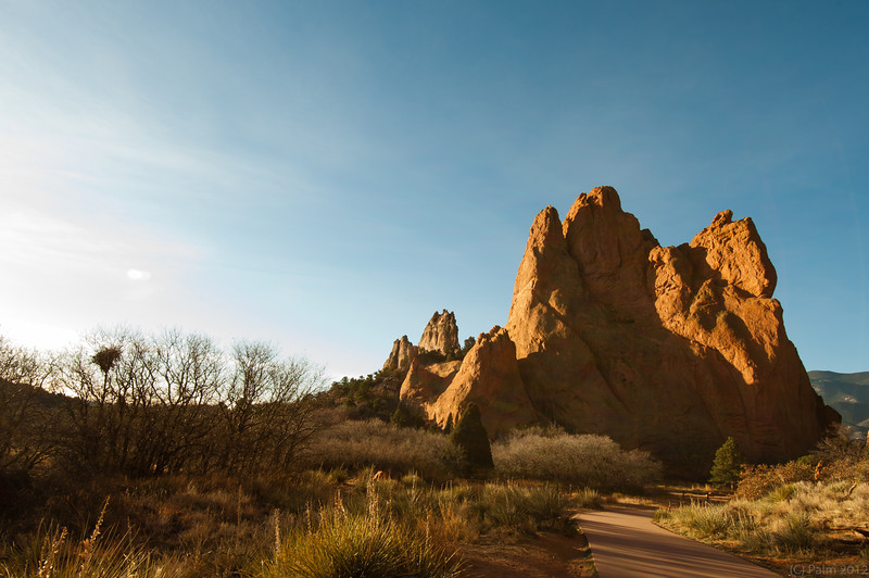 Sunrise at the Garden of the Gods, Colorado Springs, Colorado.