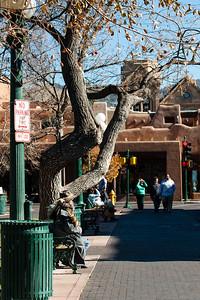 Santa Fe plaza, Santa Fe, New Mexico.