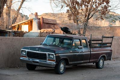 Along state road 14 outside Santa Fe, New Mexico.