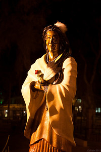 Blessed Kateri who was the first Native American Indian to be beatified, Cathedral Basilica of St Francis of Assisi, Santa Fe, New Mexico.