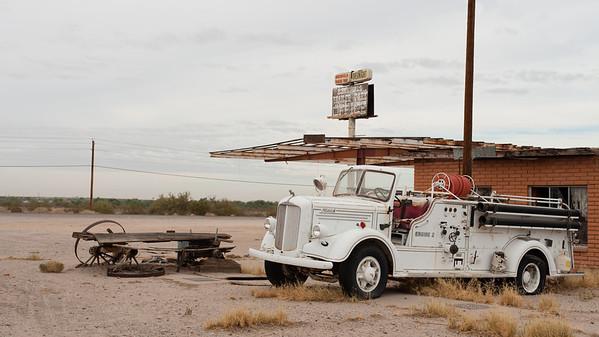 Old fire engine, Gila Bend, Az