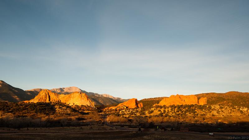 Sunrise at the Garden of the Gods, Colorado Springs, Colorado.