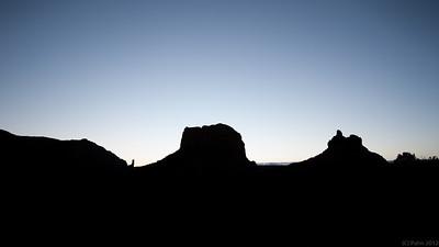 Dawn in Sedona, AZ.