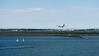 Landing on Logan airport runway
