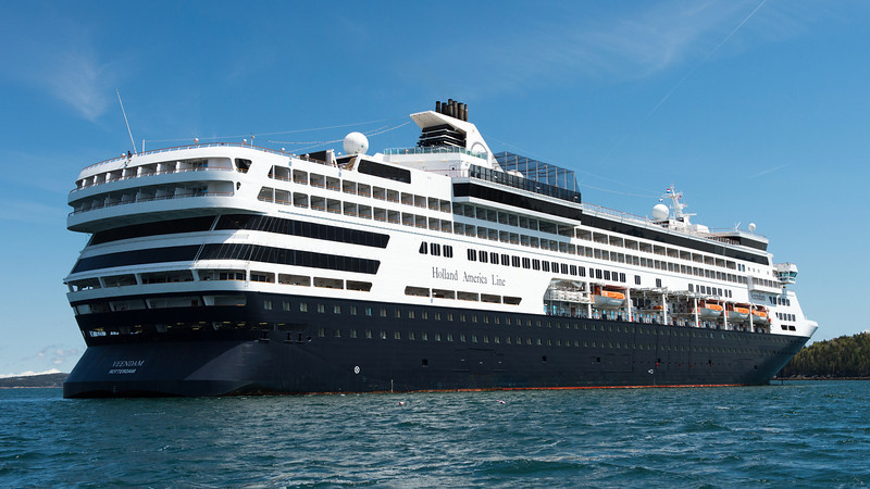 Our cruise ship - the Holland America Veendam