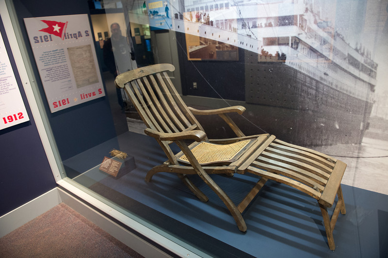 Original deck chair from the Titanic