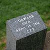 Jack Dawson gravesite - Character's name in the Titanic movie