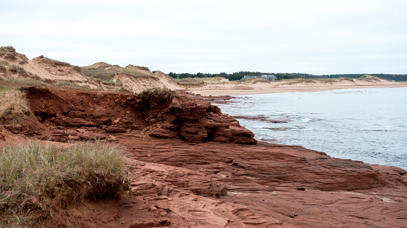 Red sandstone and dunes
