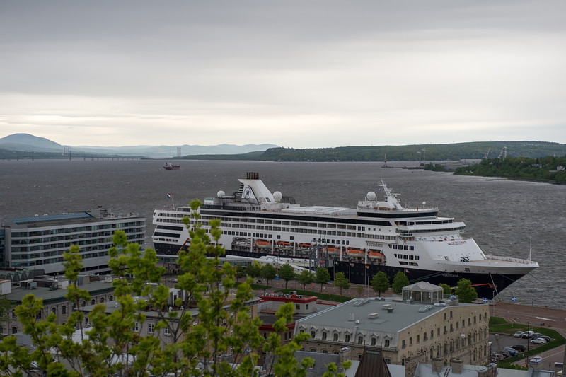 View of the St Lawrence River from the funicular