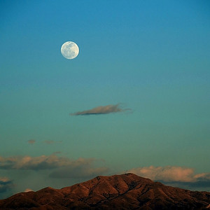 Moonrise in Green Valley, Arizona.