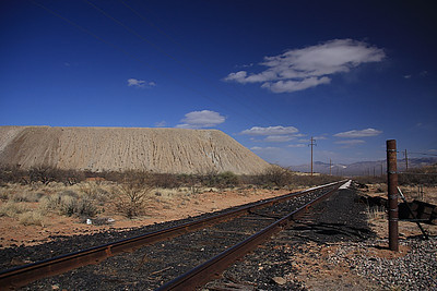Mining landscape near Green Valley, AZ.