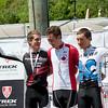 Evan McNeely (ON) Norco Factory Team / Mitchell Bailey (ON) Trek Canada Mountain Bike Team /  Antoine Caron (QC) Équipe du Québec : Specialized Racing Canada
