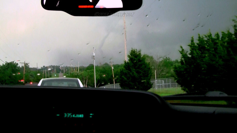Tornado just about gone east of Lake Stanley Draper.
