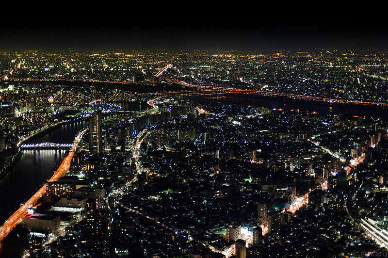 View from Tokyo Skytree, Sumida Tokyo.