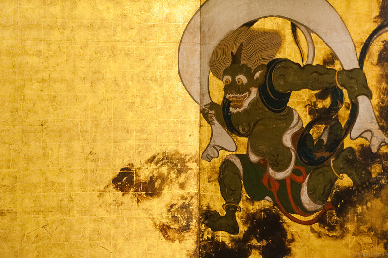 Fujin the shinto thunder god painted by Tawaraya Sōtatsu, Kyoto.