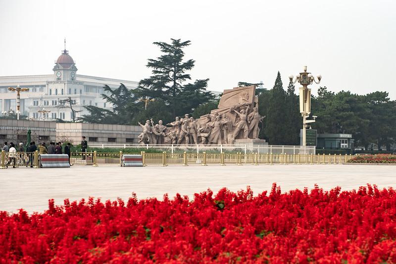 Workers Statue in front of Mao Zedong Memorial Hall