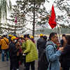 On line to visit Tiananmen Square