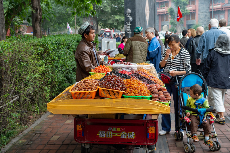 Chengdu street vendor - October 28, 2014