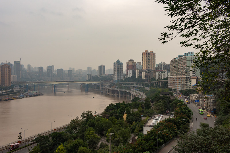 Overlooking the river in Chongqing