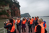 Approaching Leshan Giant Buddha by boat