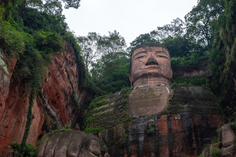 71-metre tall stone statue, built between 713 & 803 AD