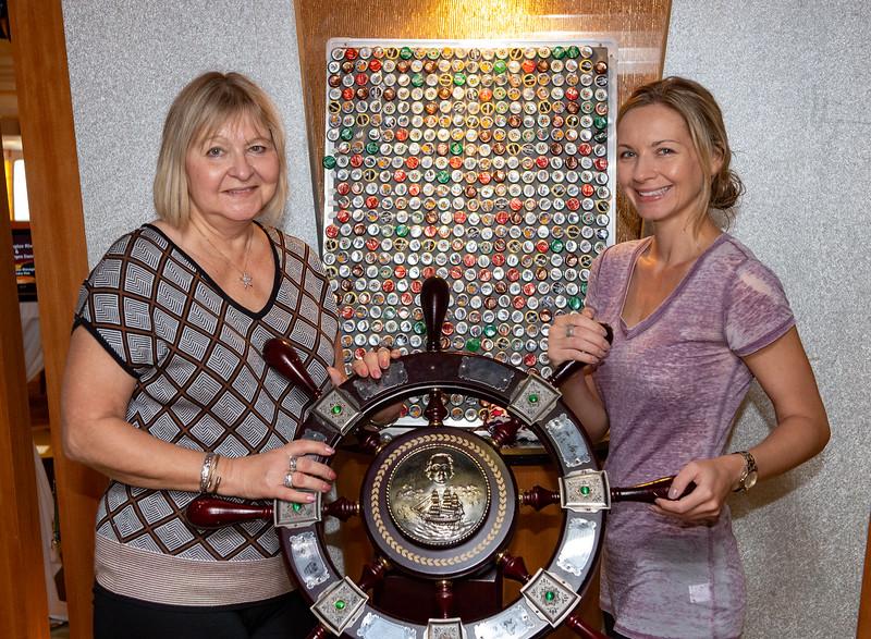 Janice & Amanda 'steering' the ship