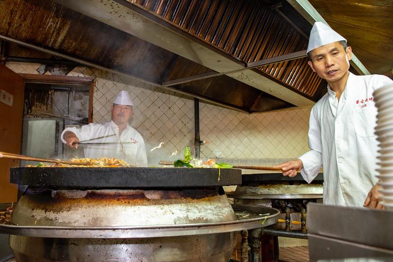 Lunch at a Mongolian restaurant