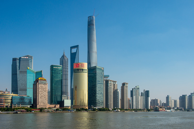 Shanghai Tower - 2073' tall  (2015)