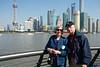Audrey & Dennis on Shanghai waterfront