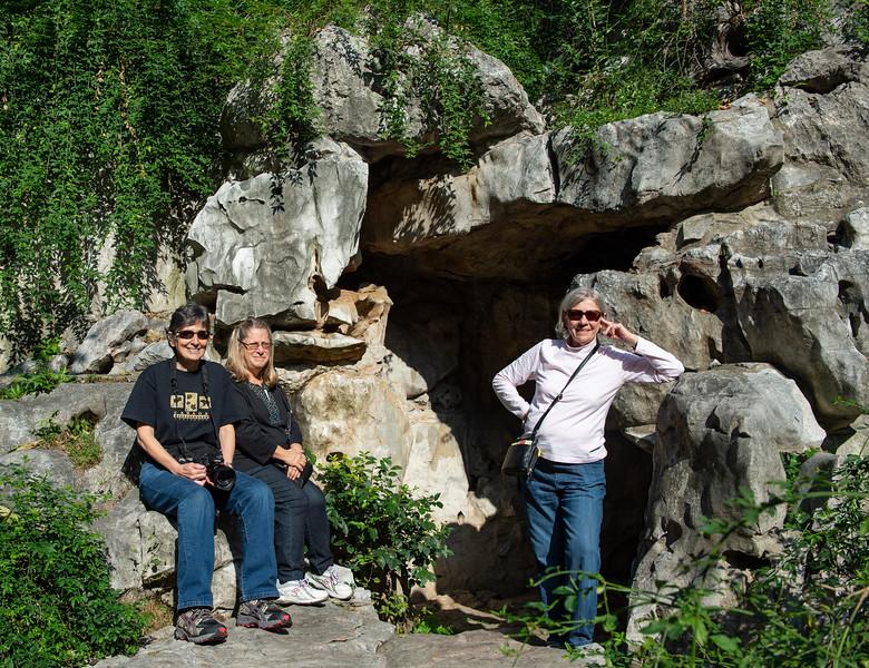 Mercedes, Joy & Audrey by 'Cave' entrance
