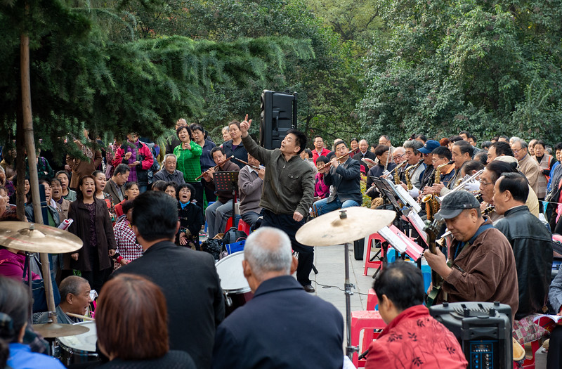 Concert in the park - Singing old Mao era songs