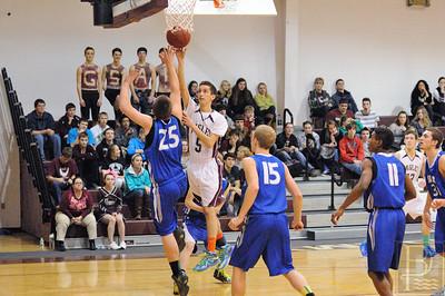 Photo by, Franklin Brown Boys Varsity Basketball George Stevens vs. Sumner Memorial High January 27, 2014