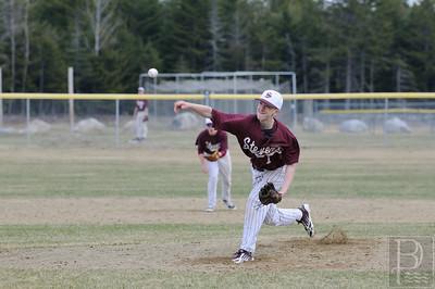 Photo by, Franklin Brown April 19, 2014 George Stevens Academy vs. Ellsworth High School www.franklinbrown.net