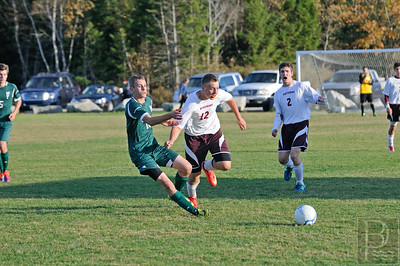 Photo by, Franklin Brown www.franklinbrown.net Boys Soccer, George Stevens Academy vs. MDI October 10, 2014