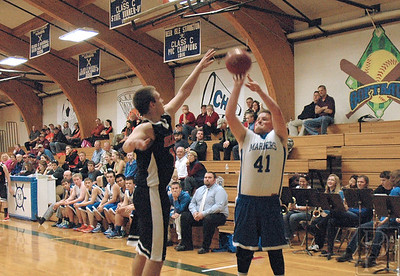 Sports Mariners Boys Jared Shoots a Three 121114 JS