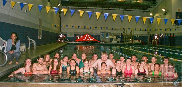 The GSA Eagles varsity swim team