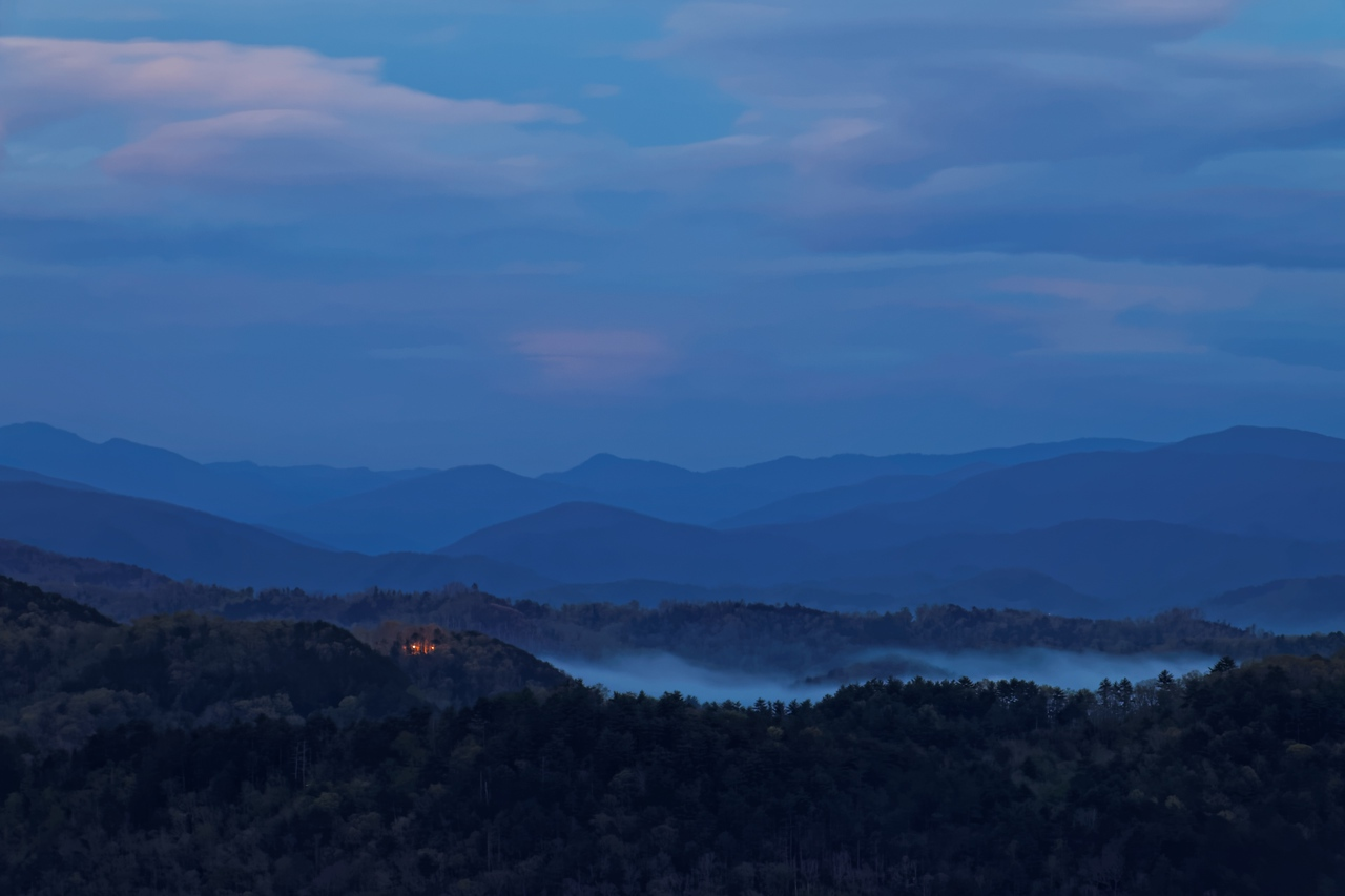 Foothills Parkway After Sunset