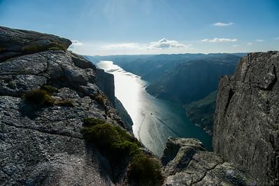 View of Lysefjord from Kjerag.