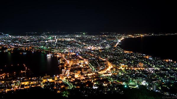 Hakodate, Hokkaido, by night.