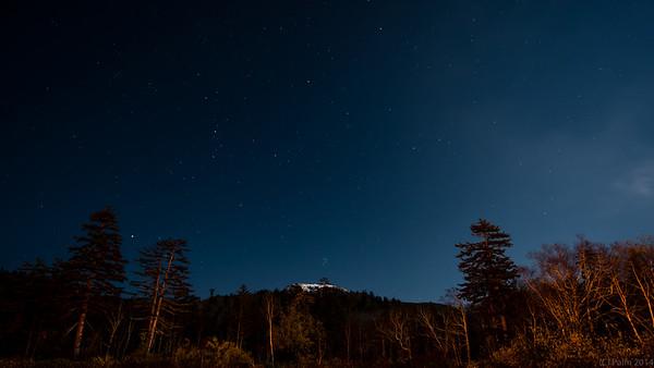 Asahidake by night, Hokkaido.