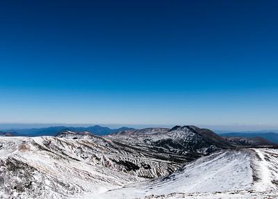 View from the top of Asahidake, Hokkaido.
