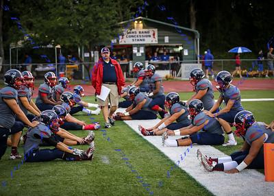 LBHS V Football vs University - Sept 19, 2014