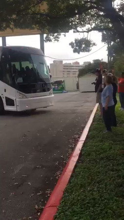 UIL State bus send-off