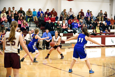 Senior Megan Nowland works her offense against Sumner. Photo by Franklin Brown