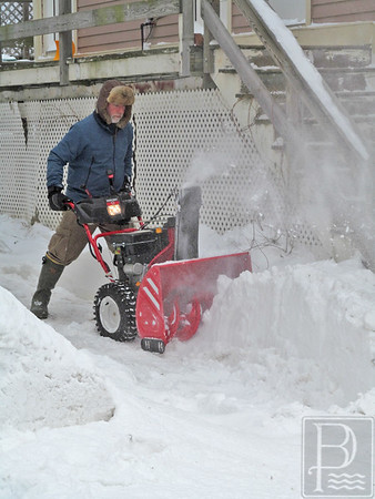 Castine and Penobscot residents dig out after snowstorm