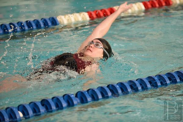 Senior Madison Cole competes