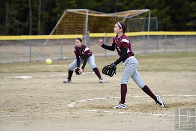 Photo by, Franklin Brown www.franklinbrown.net Girls Softball, George Stevens Academy vs. Ellsworth High School April 20, 2015