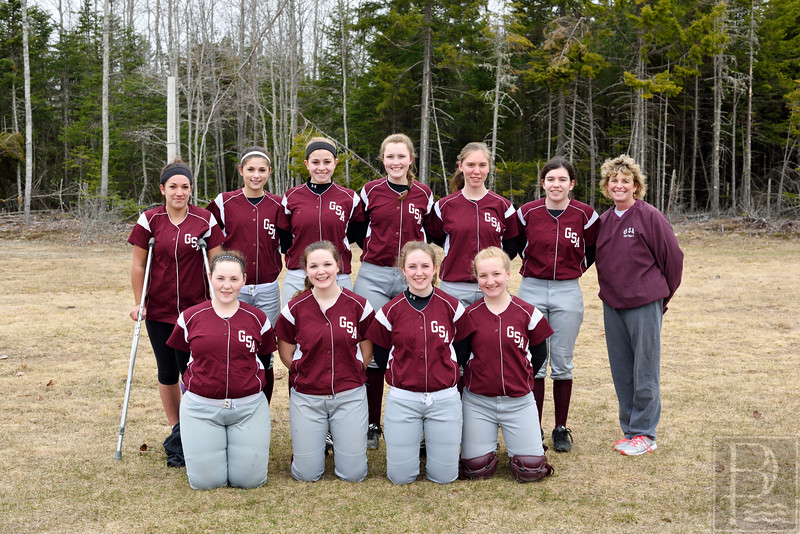 "Photo by, Franklin Brown<br />  <a href=""http://www.franklinbrown.net"">http://www.franklinbrown.net</a><br /> Girls Softball, George Stevens Academy<br /> Team Photo<br /> April 20, 2015"
